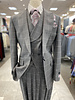 Tiglio Vested Window Pane Suit (New Rosso)