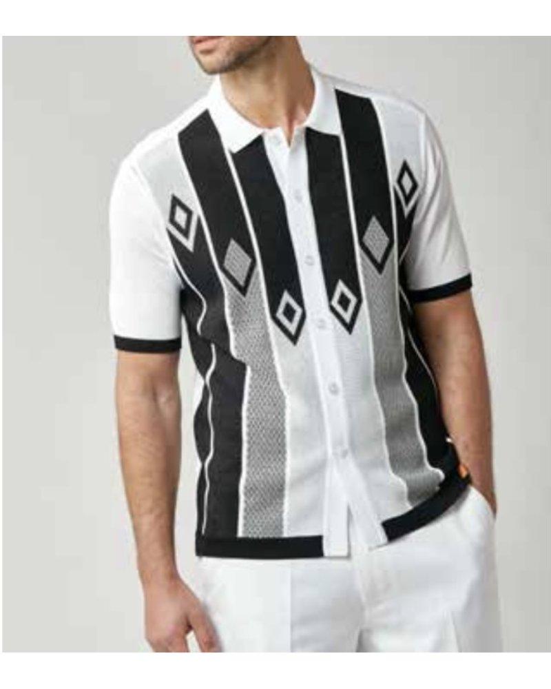 Silversilk S/S Full Button Down Knit Shirt (1209)