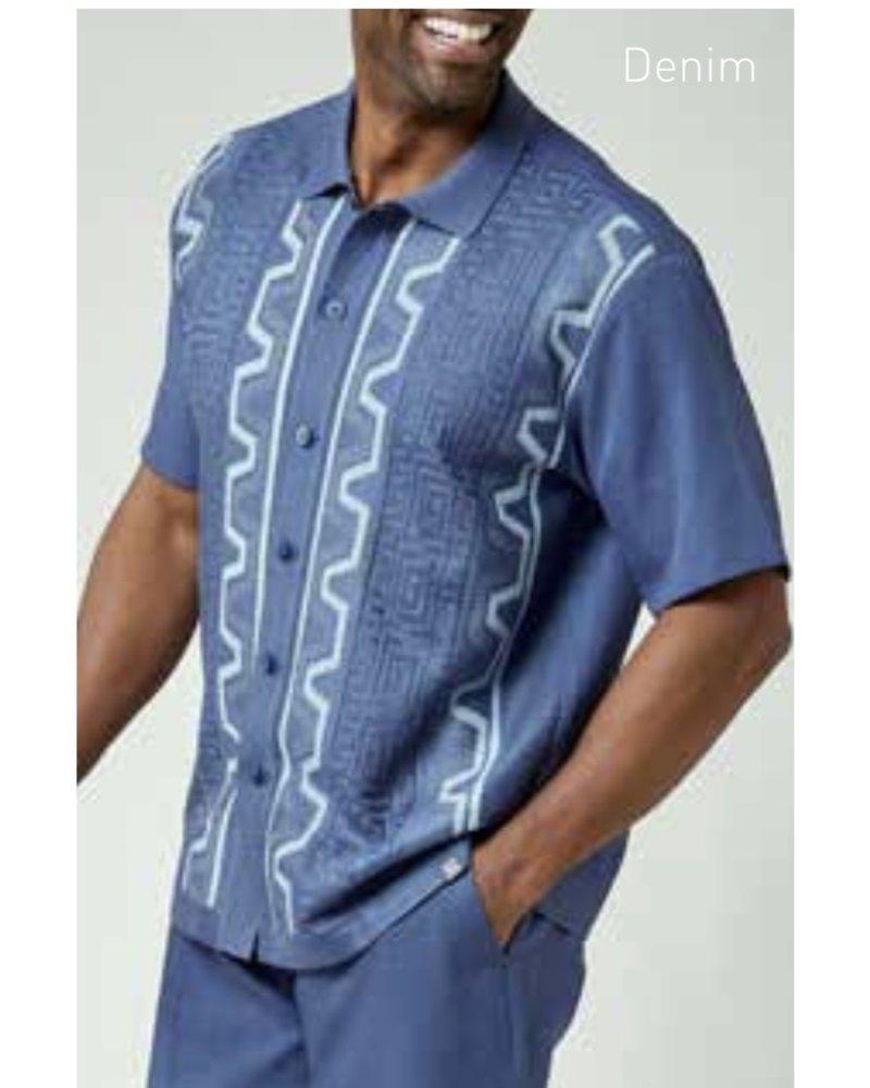 Silversilk S/S Greek Pattern Knit Set