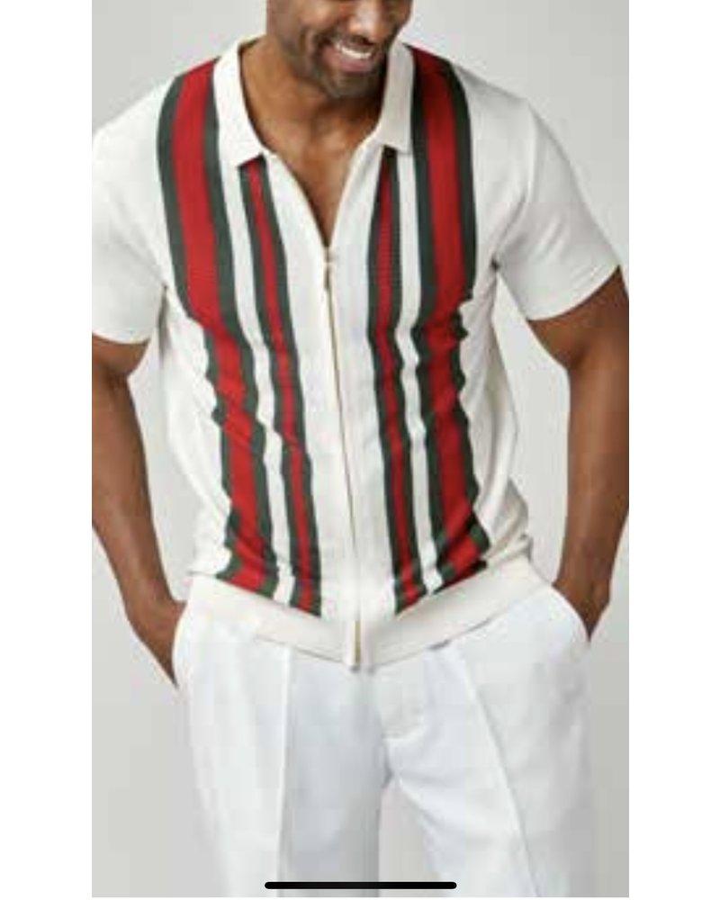 Stacy Adams S/S Full Zip Knit Shirt (1217)