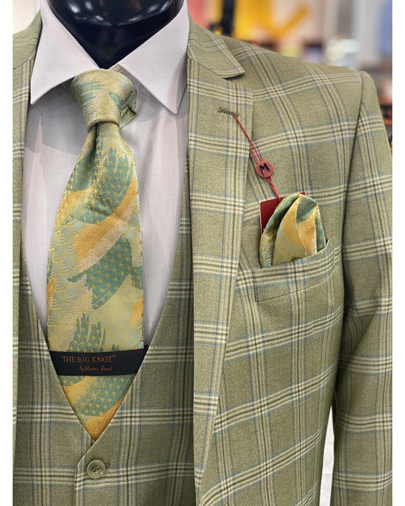 Mazari Window Paine Vested Suit