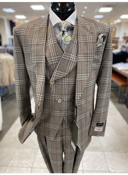Tiglio Plaid Vested Suit (New Rosso)