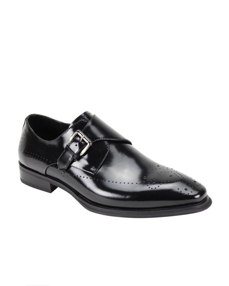Giovanni Monk Strap Leather Shoe
