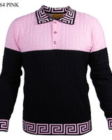 Prestige L/S Two Tone Textured Polo Knit