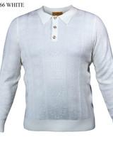 Prestige L/S Jacquard Polo Sweater