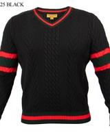 Prestige L/S V-Neck Web Sweater