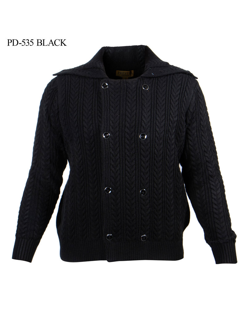 Prestige Double Breasted Cable Knit Sweater