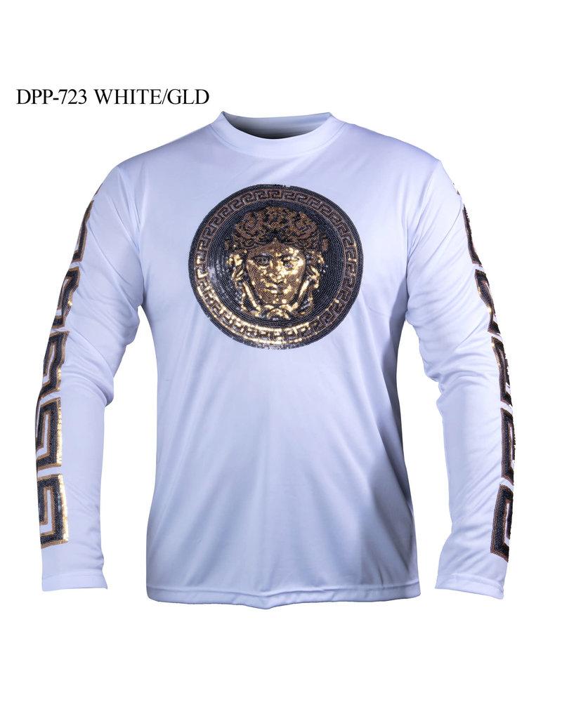 Prestige L/S Sequins Crew Neck Shirt