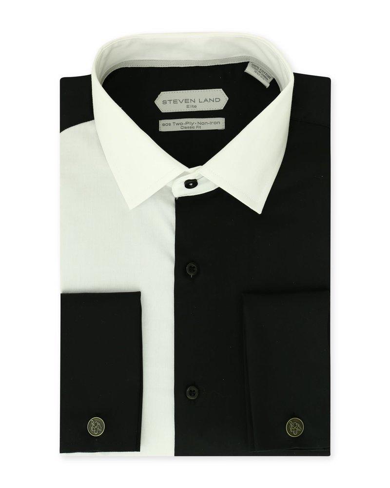 Steven Land Block Cotton Shirt