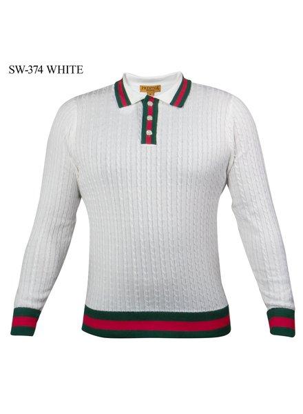 Prestige L/S Web Polo Knit Shirt