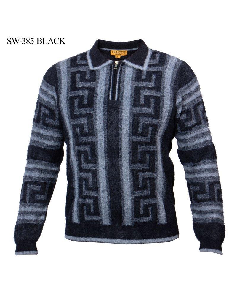 Prestige L/S Greek Key Fluffy Sweater