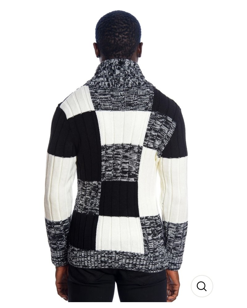 Black Edition Block High Neck Sweater