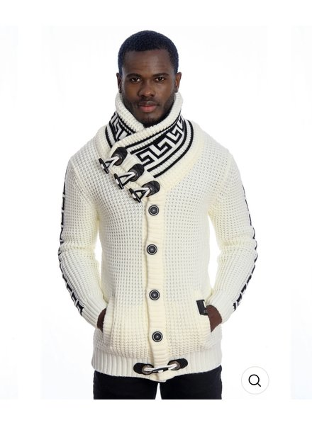 Black Edition High Greek Key Sweater