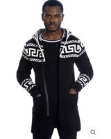 Black Edition Greek Key Hooded Sweater