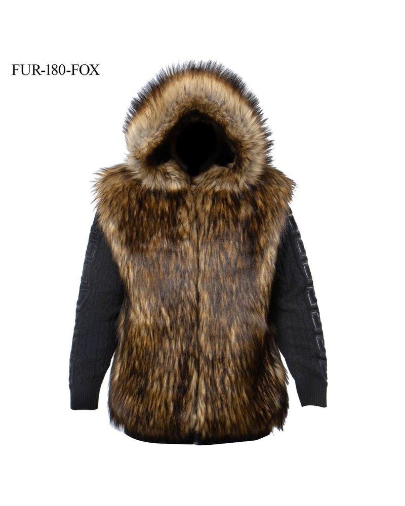 Prestige 3/4 Cable Fur Sweater