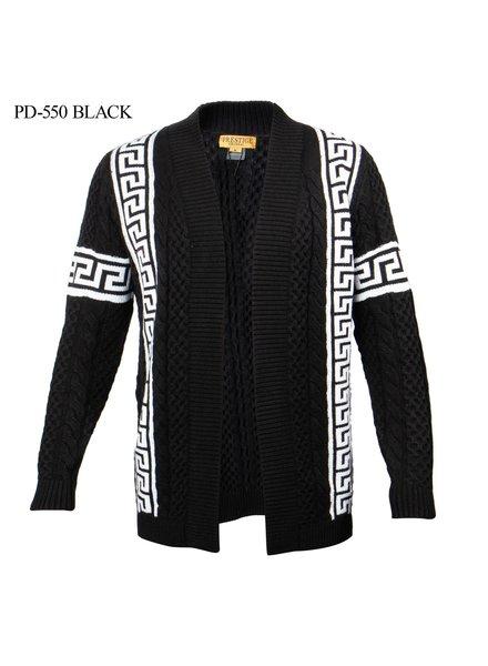 Prestige L/S Greek Key Cable Cardigan Sweater