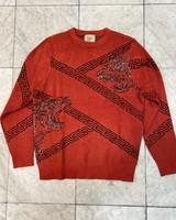 Cigar Greek Key Chenille Sweater
