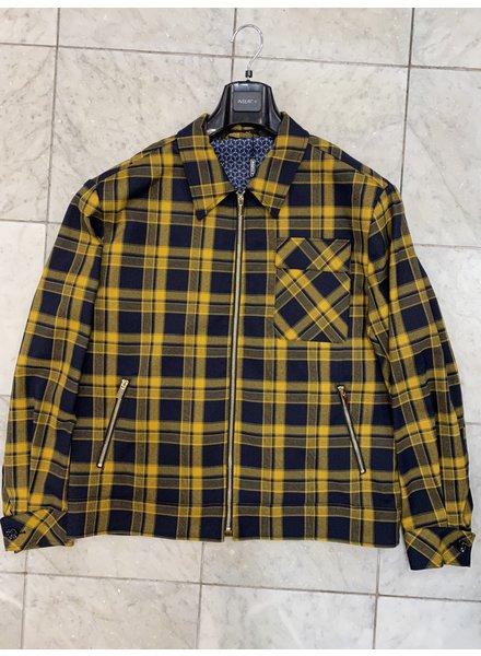 Inserch Plaid Check Full Zip Jacket