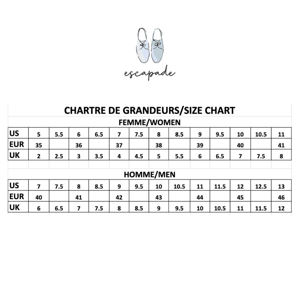 charte grandeurs - size chart