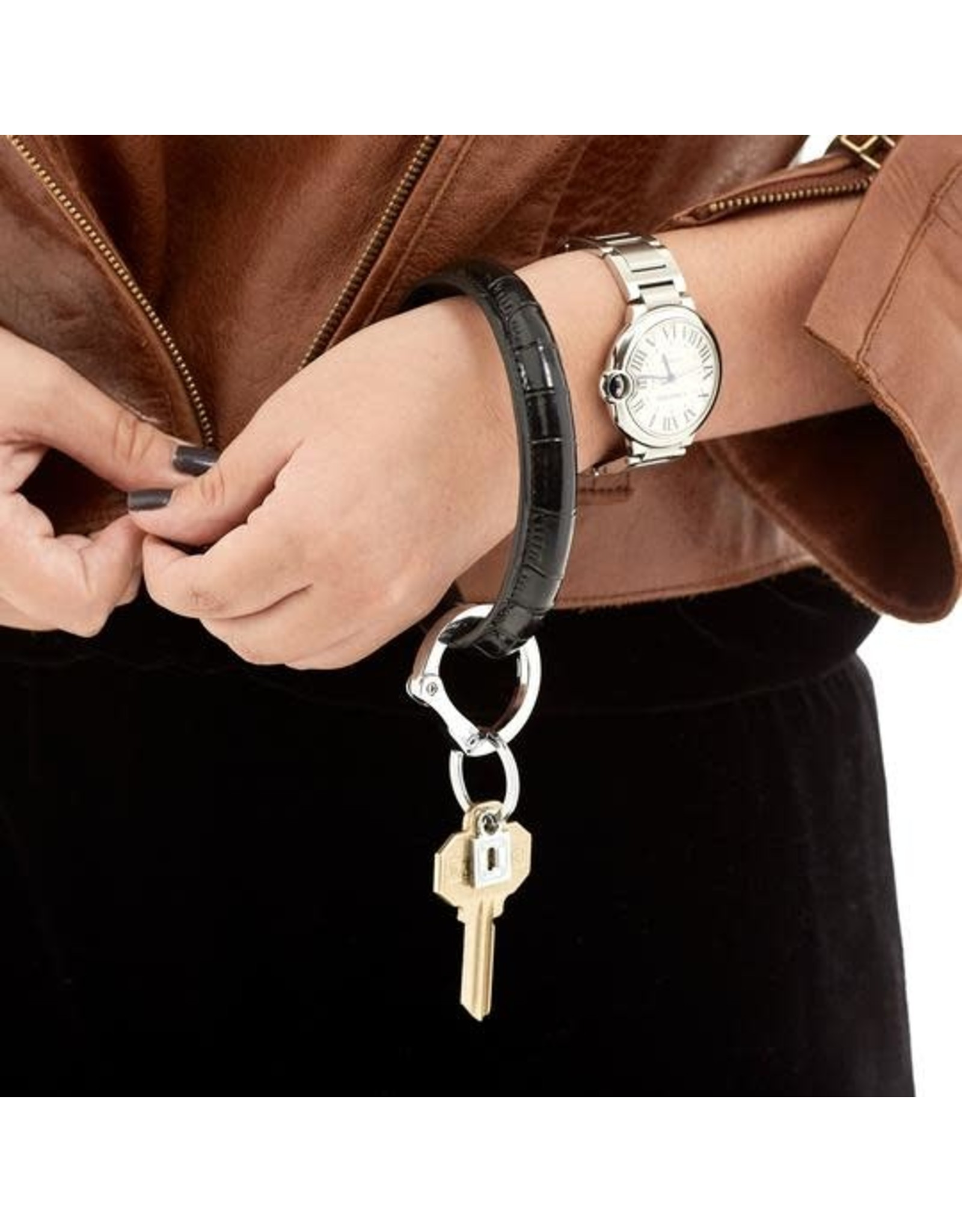 O Venture Leather Key Ring