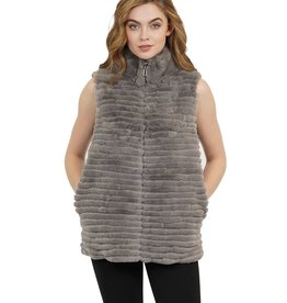 Love Token Laurel Reversible Fur Vest