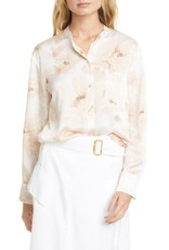 Vince Painted Magnolia Blouse