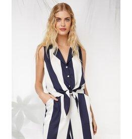 Fifteen Twenty Tie Front Stripe Top