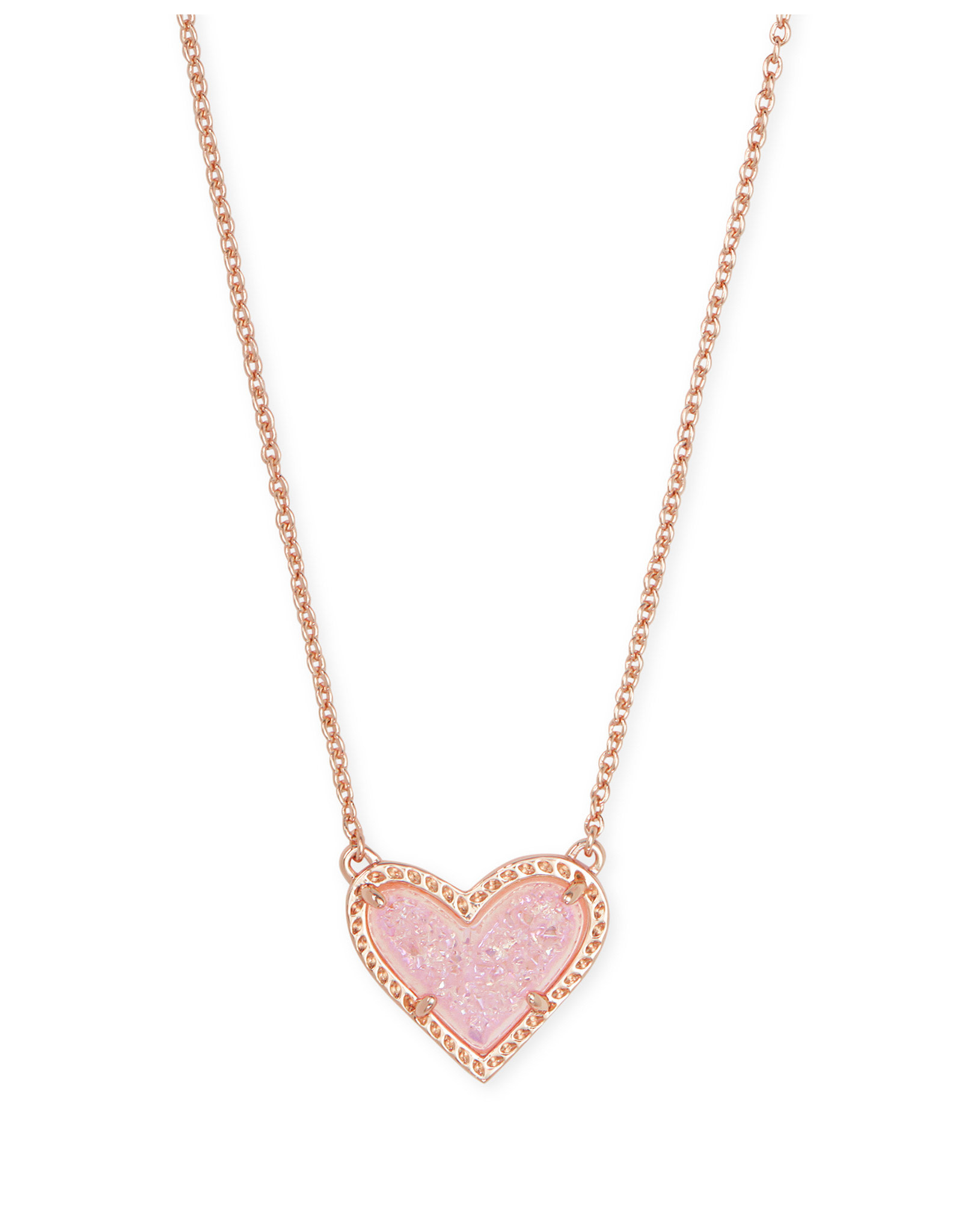 Kendra Scott Ari Heart Necklace Drusy