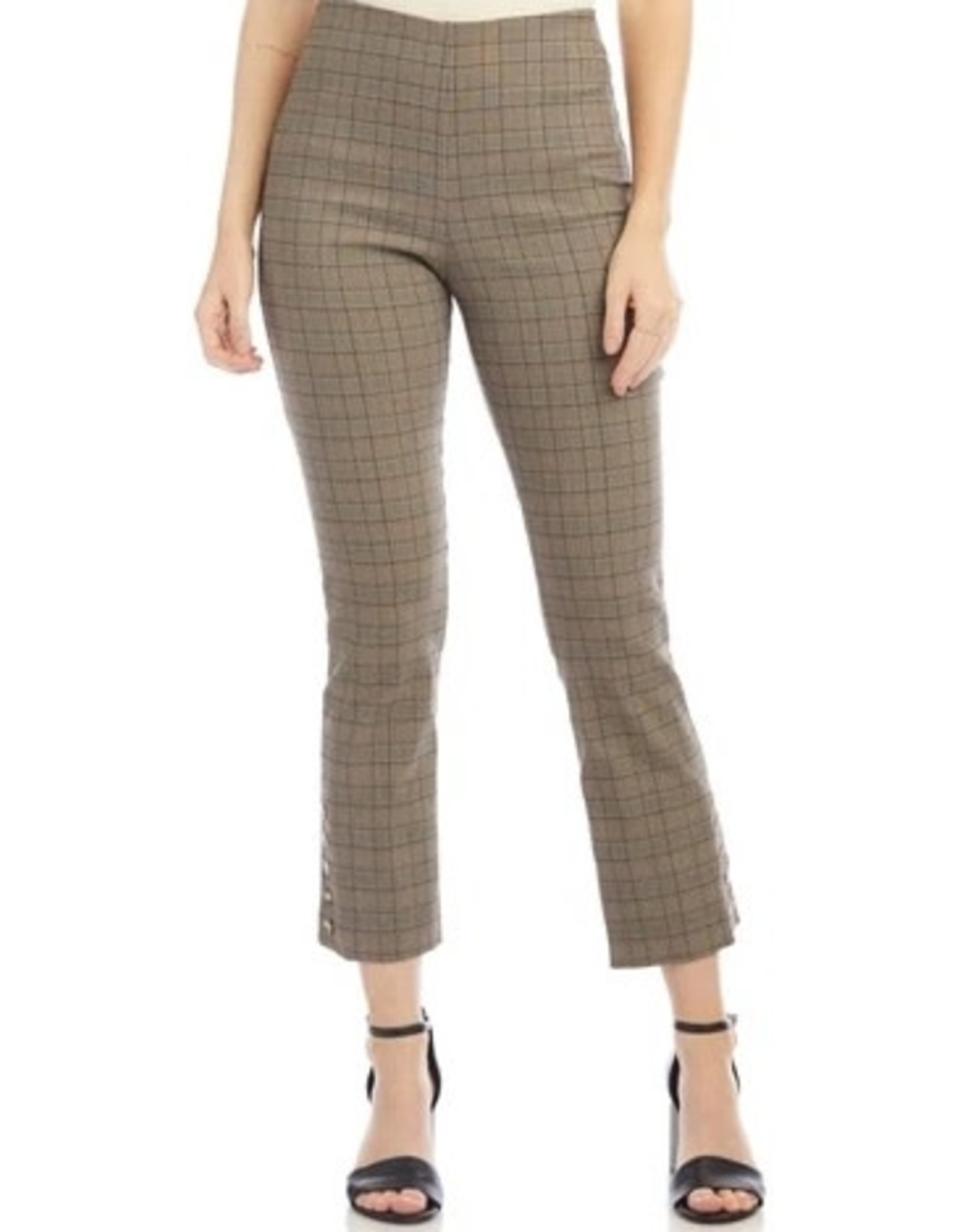 Fifteen Twenty Button Hem Plaid Pants