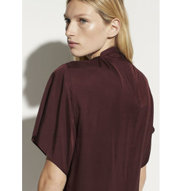 Vince Twist Neck Flutter Sleeve