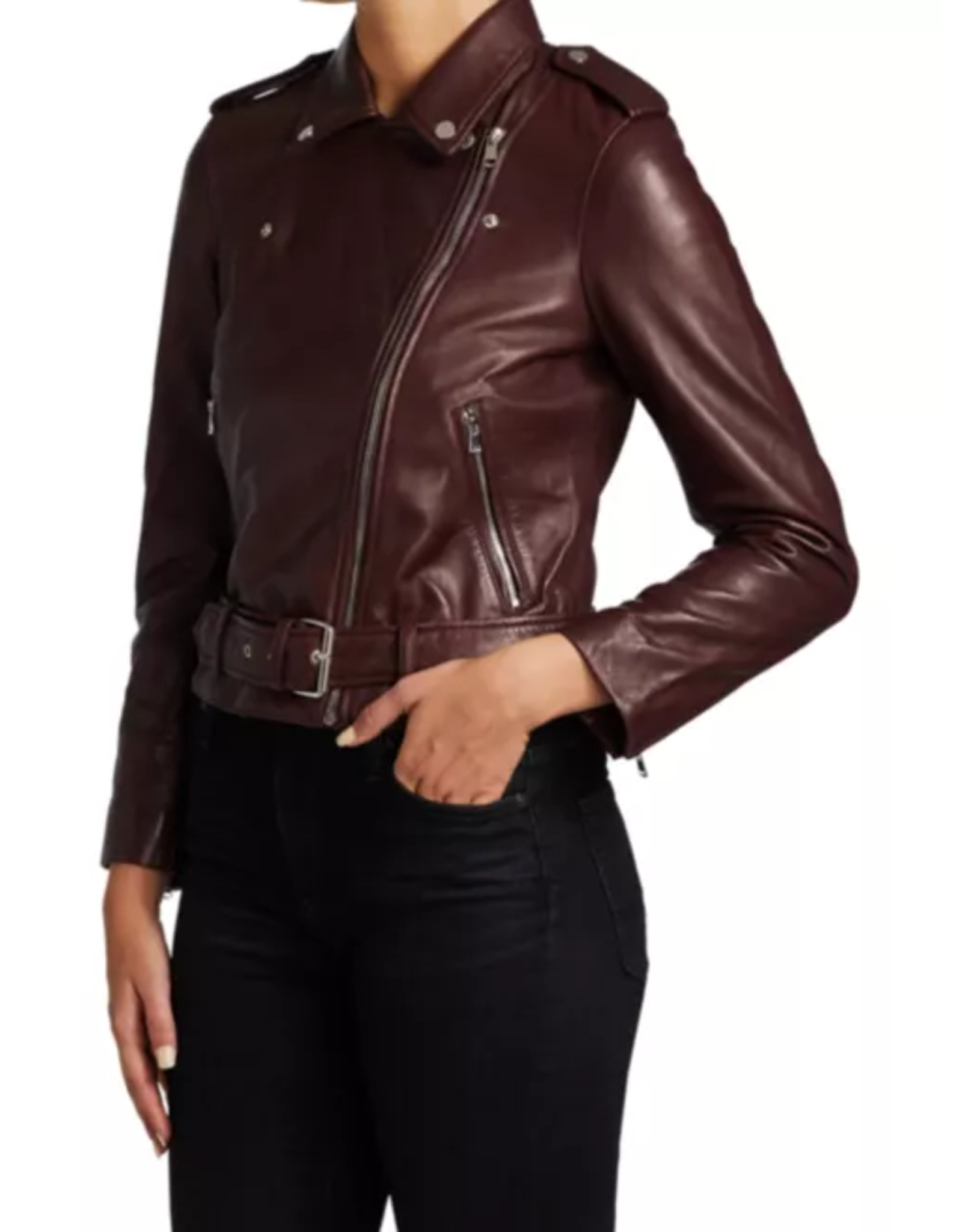 AG Rory Leather Moto Jacket