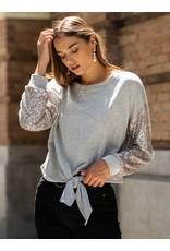 Fifteen Twenty Contrast Sequin Sweatshirt