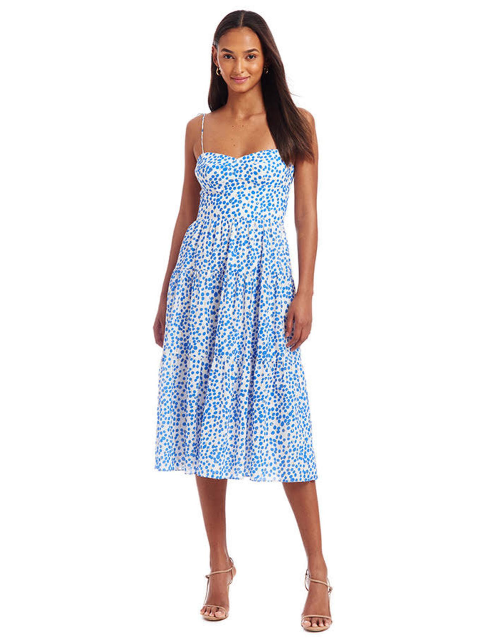 Amanda Uprichard Tula Dress in Electric Dot