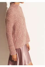 Vince Mirrored Cable Turtleneck