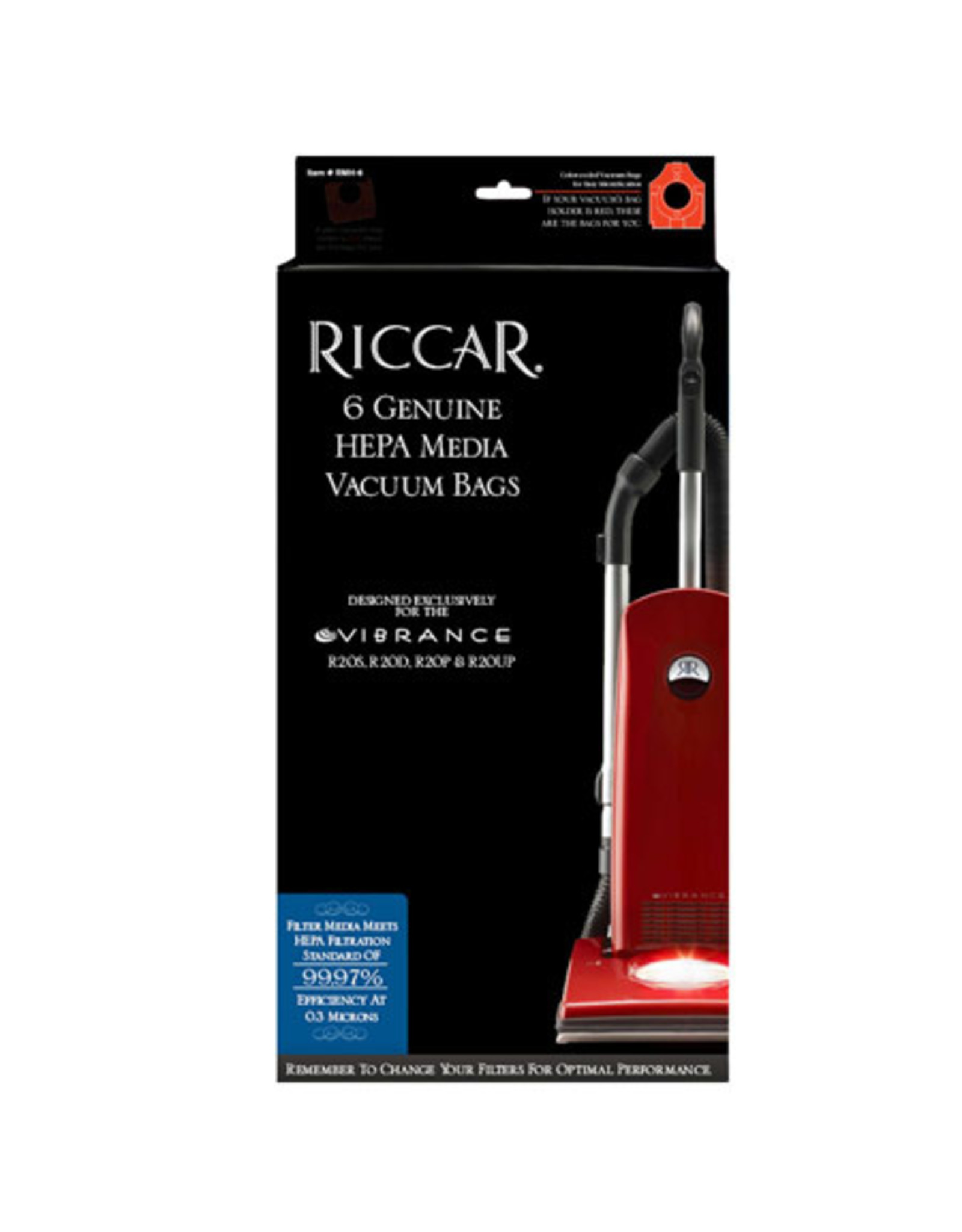 Riccar Riccar R20 Vibrance HEPA Media Self Sealing Bags