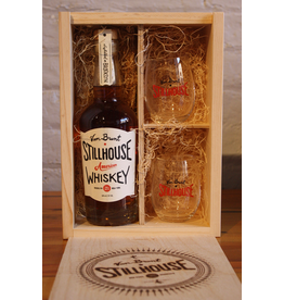 Van Brunt Stillhouse American Whiskey Gift Set with 2 Glasses - Red Hook, Brooklyn (375ml)