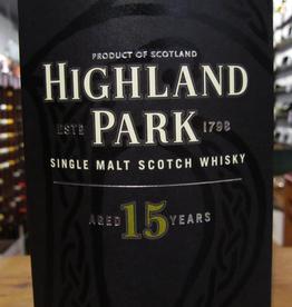 Highland Park 15yr Single Malt Scotch Whisky - Kirkwall, Orkney Islands, Scotland (750ml)