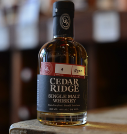 Cedar Ridge Whiskey Single Malt 80 proof - Swisher, Iowa (200ml)