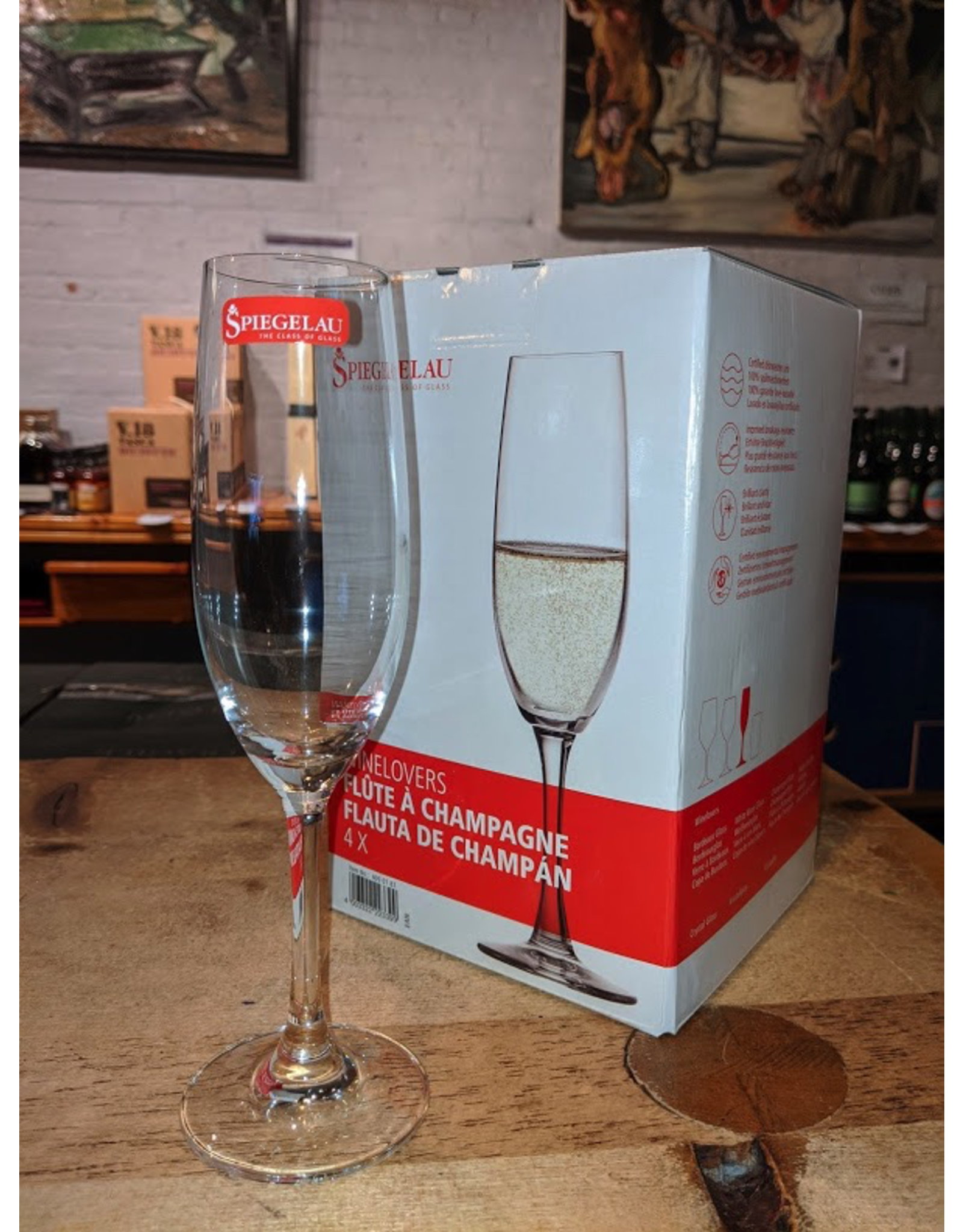 Spiegelau Wine Lovers 6.7 oz Champagne Flute  (4 pack)