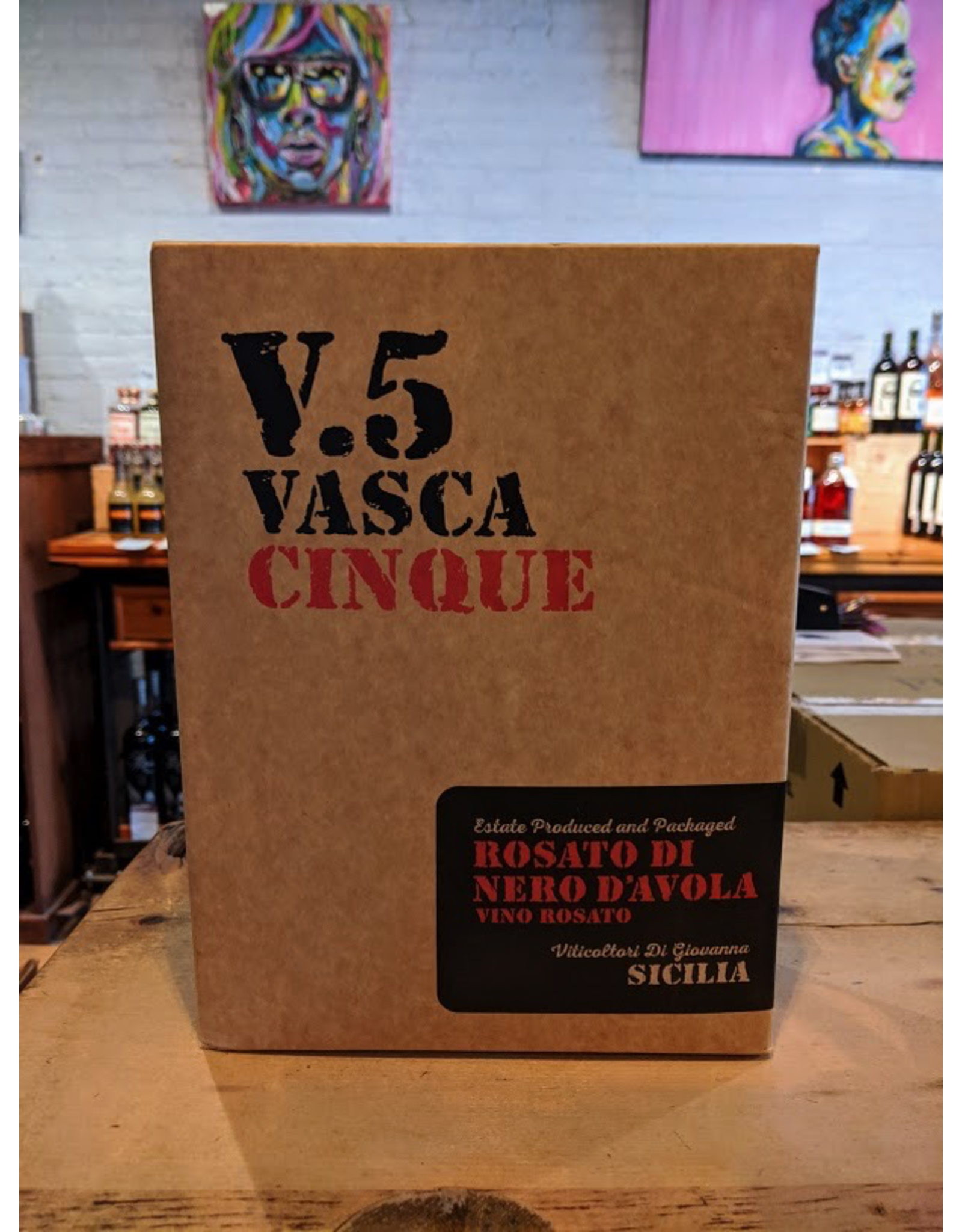 2019 Vasca Cinque V.5 Rosato di Nero d'Avola - Sicily, Italy (3Ltr Bag in Box)