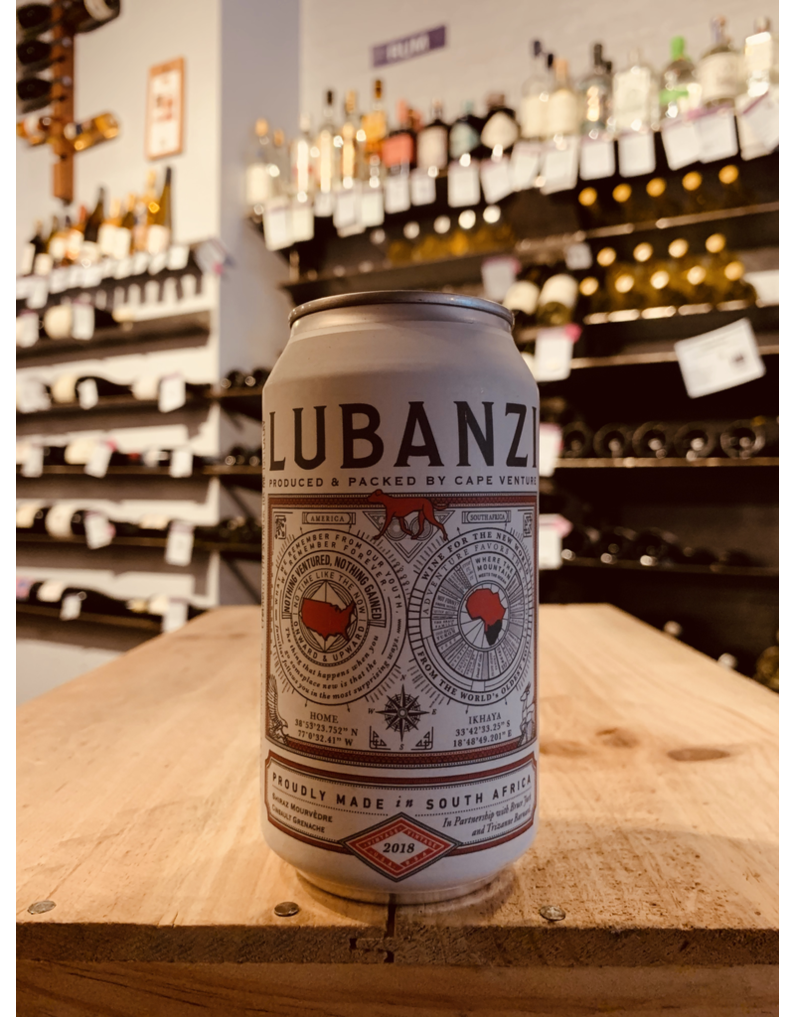 South Africa-Western Cape 2018 Lubanzi Red Blend - Swartland, Western Cape, South Africa (375ml can)