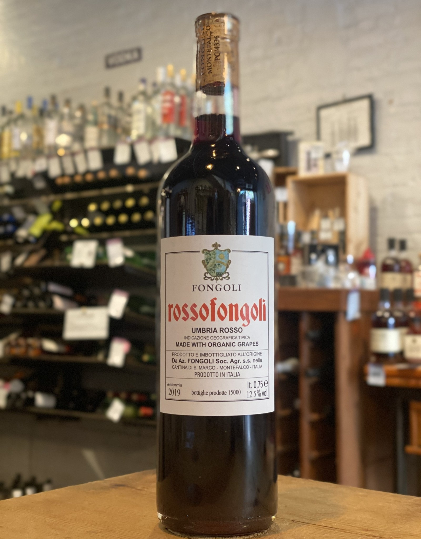 Wine 2019 Rossofongoli - Umbria, Italy (750ml)