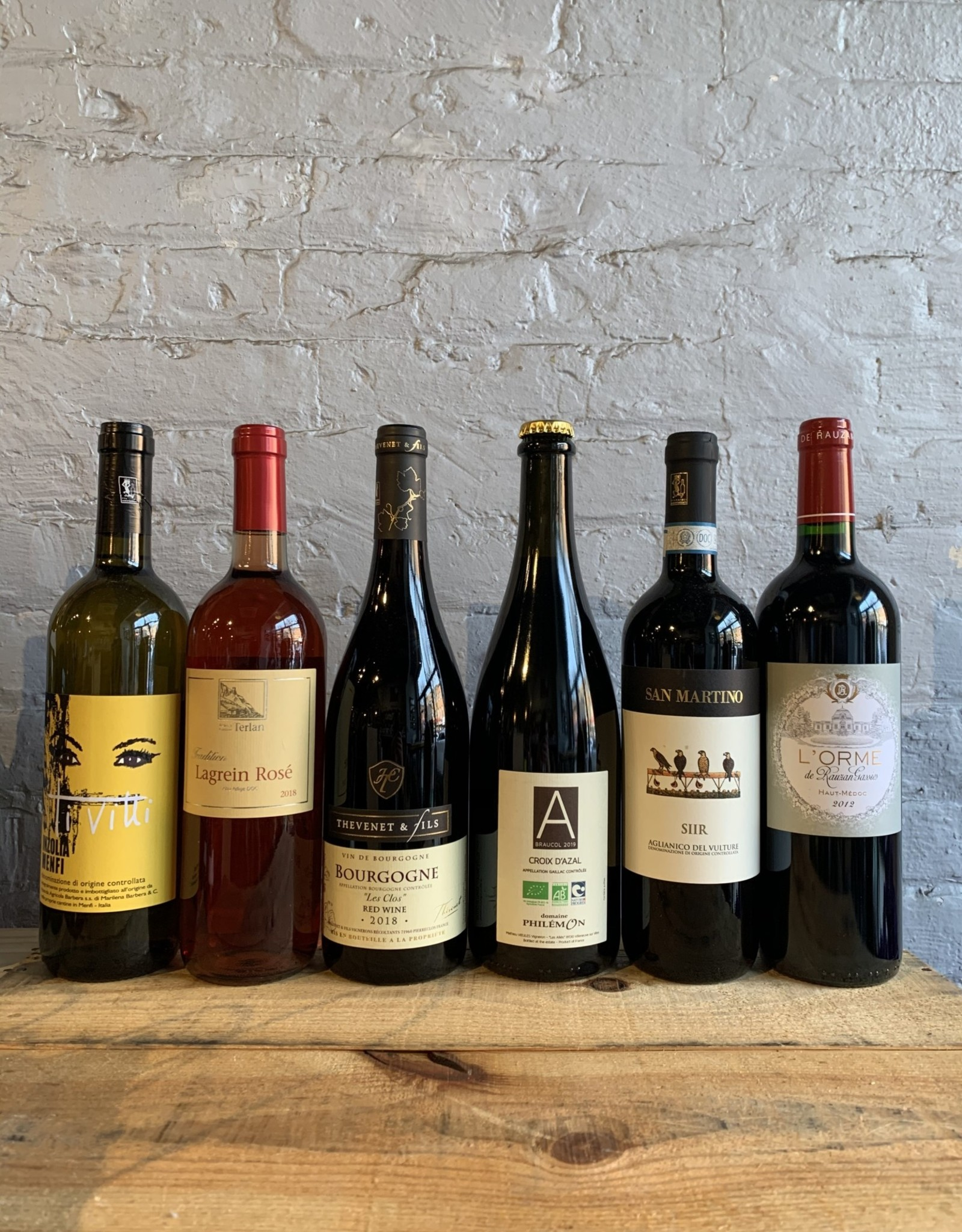 Wine December 2020 Gnarly Wine of the Month Club (6-Pack)