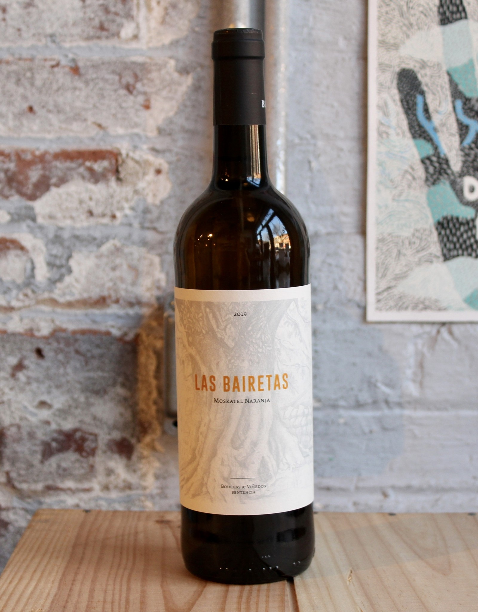 Wine 2019 Bodegas Sentencia Las Bairetas Moskatel Naranja Skin-Contact - Valencia, Spain (750ml)