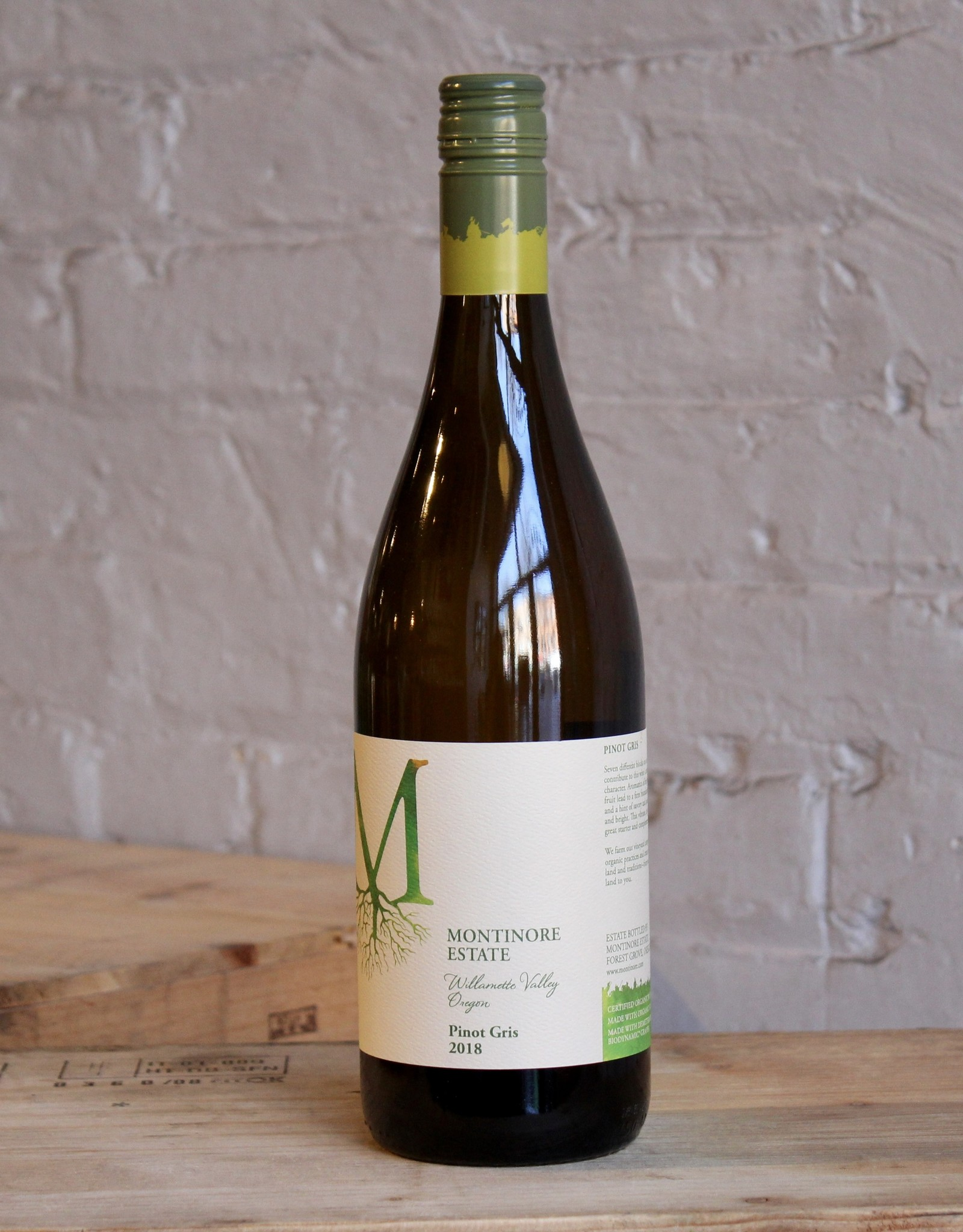 Wine 2018 Montinore Pinot Gris - Willamette Valley, Oregon (750ml)