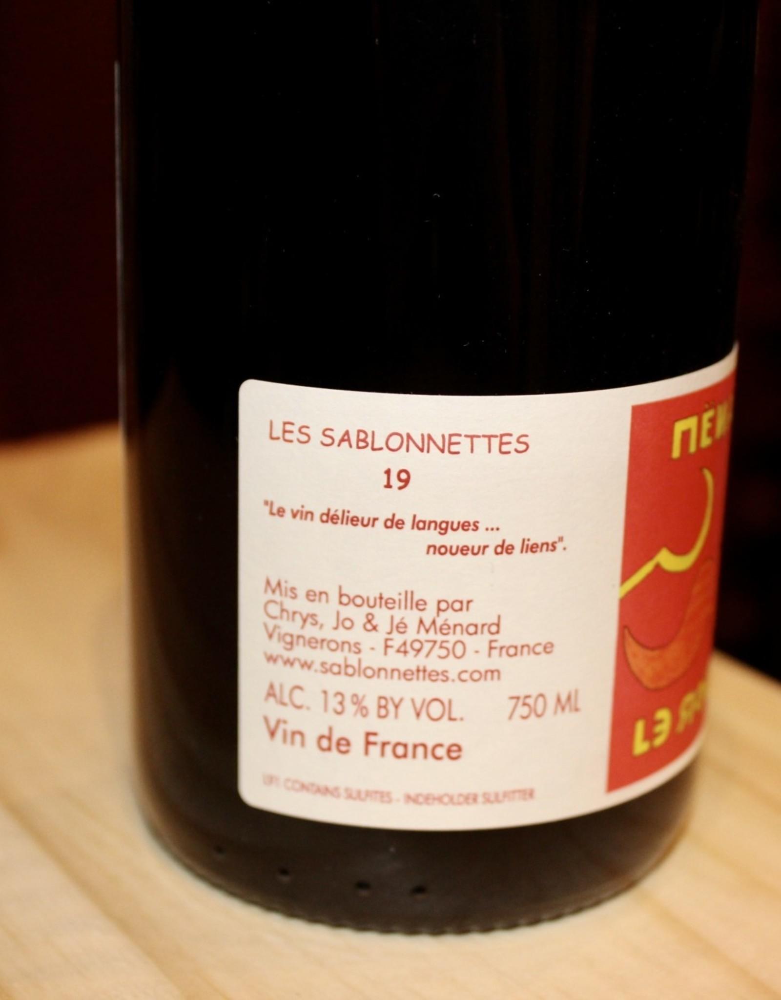 Wine 2019 Les Sablonnettes 'Menard le Rouge' - Loire Valley, France