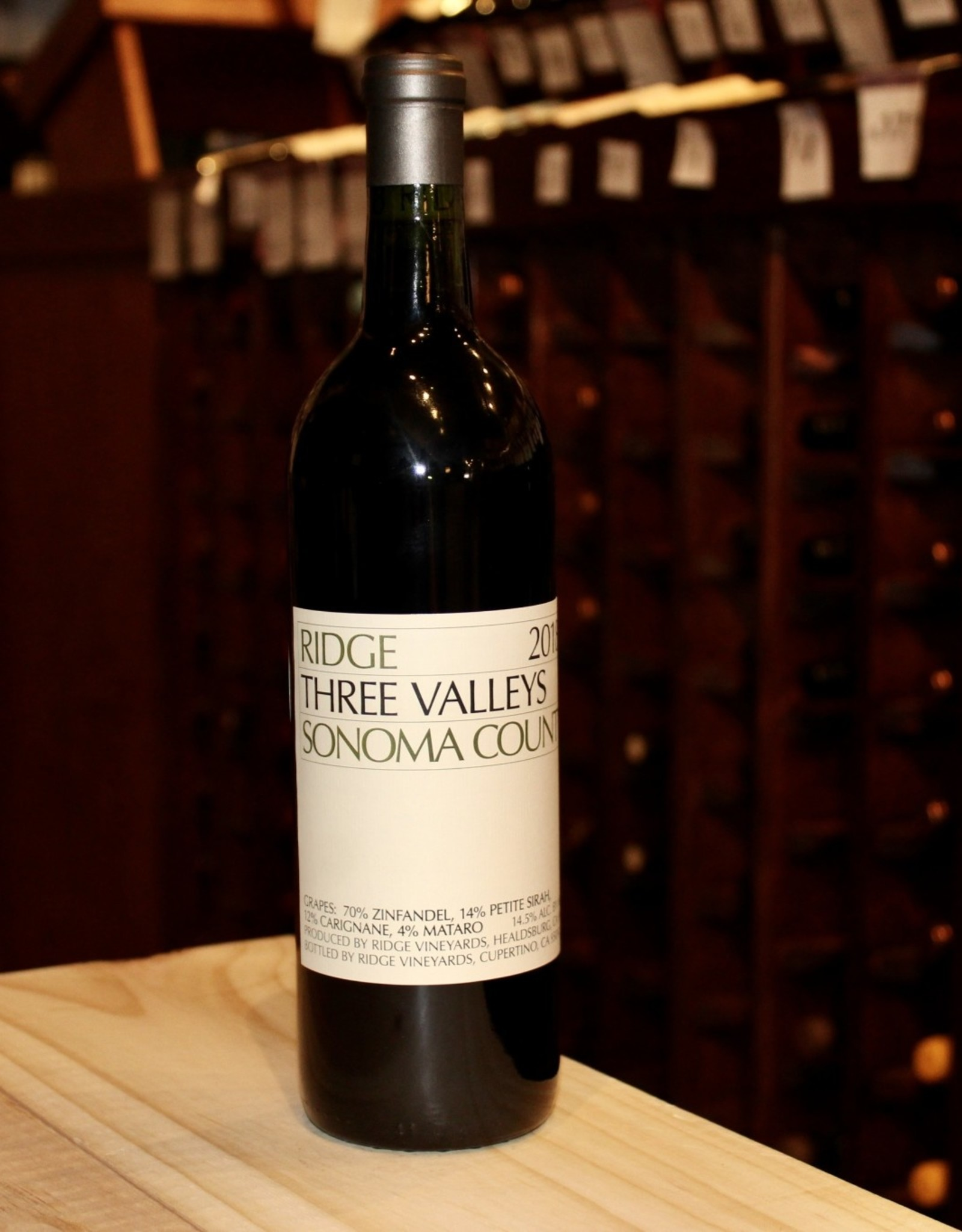 Wine 2018 Ridge Vineyards Three Valleys Zinfandel Blend - Sonoma County, CA (750ml)