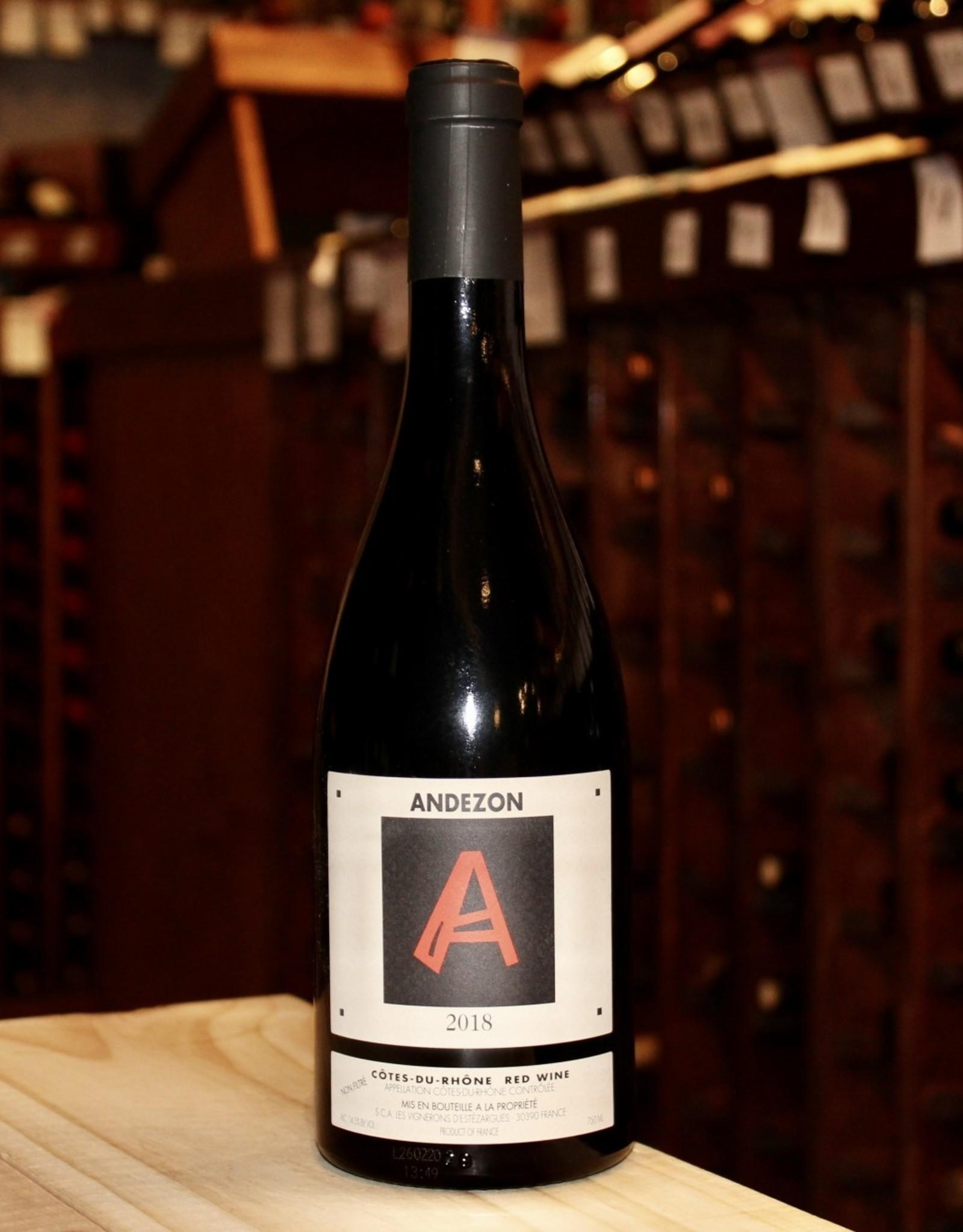 Wine 2018 Domaine d'Andezon Rouge - Cotes du Rhone, France (750ml)