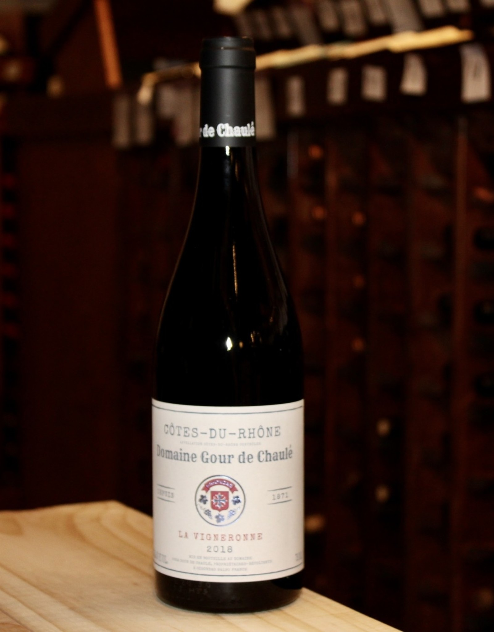 Wine 2018 Domaine Gour de Chaule La Vigneronne - Cotes-du-Rhone, France (750ml)
