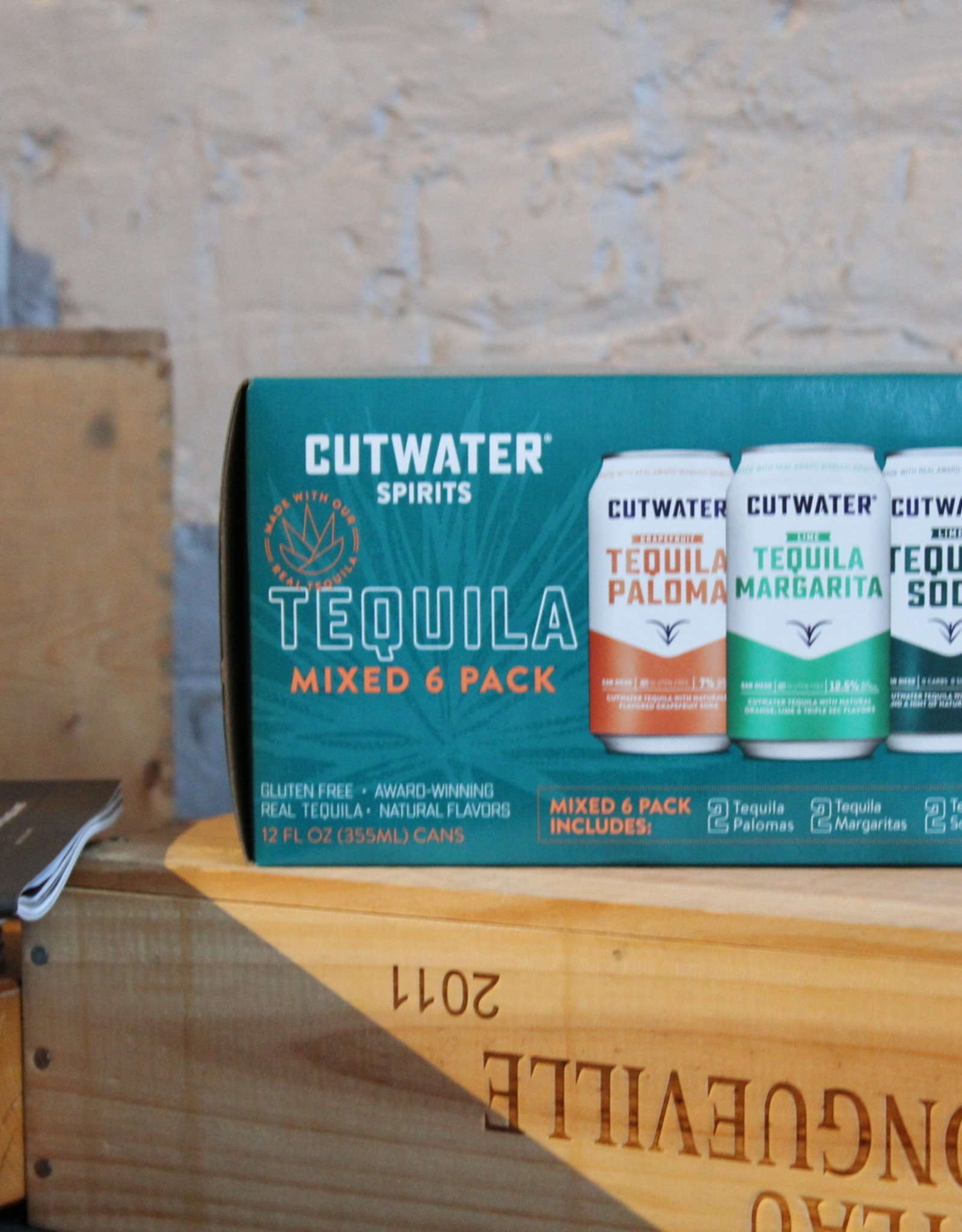 Cutwater Tequila Variety Pack - 2ea Lime Margarita, Paloma and Tequila Soda - CA (6 x 12oz cans)